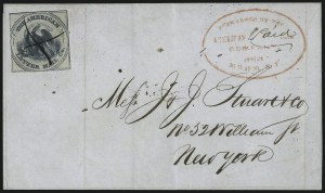 Sale Number 1101, Lot Number 572, Independent Mails: American Letter Mail Co.American Letter Mail Co., (5c) Blue on Gray (5L3), American Letter Mail Co., (5c) Blue on Gray (5L3)