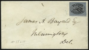 Sale Number 1101, Lot Number 653, Local Posts: D.O. Blood & Co.Blood's City Despatch, Philadelphia Pa., (unstated value) Black & Blue (15L10), Blood's City Despatch, Philadelphia Pa., (unstated value) Black & Blue (15L10)