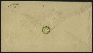 Sale Number 1101, Lot Number 765, Local Posts: T.A. Hampton thru Jenkins` Camden DispatchHopedale Penny Post, Milford Mass., (1c) Black on Yellow Wove (84L3), Hopedale Penny Post, Milford Mass., (1c) Black on Yellow Wove (84L3)