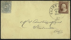 Sale Number 1101, Lot Number 790, Local Posts: Ricketts & Hall thru Stringer & MortonSquier & Co. City Letter Dispatch, St. Louis Mo., 1c Green, Imperforate (132L1), Squier & Co. City Letter Dispatch, St. Louis Mo., 1c Green, Imperforate (132L1)