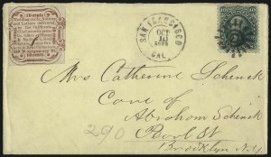 Sale Number 1103, Lot Number 1534, California City Letter Express, California Letter ExpressCalifornia City Letter Express Co., San Francisco, 10c Red, Type I (33L1), California City Letter Express Co., San Francisco, 10c Red, Type I (33L1)