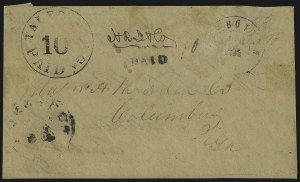 Sale Number 1104, Lot Number 2285, Postmasters Provisionals: Richmond Tex. Thru Winnsborough S.C.Talbotton Ga., 10c Black entire (94XU2), Talbotton Ga., 10c Black entire (94XU2)
