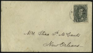 Sale Number 1104, Lot Number 2315, General Issues on Cover: Scott 15c Olive Green, Stone A-B (1c), 5c Olive Green, Stone A-B (1c)