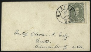 Sale Number 1104, Lot Number 2316, General Issues on Cover: Scott 15c Olive Green, Stone A-B (1c), 5c Olive Green, Stone A-B (1c)