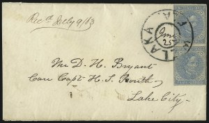 Sale Number 1104, Lot Number 2354, General Issues on Cover: Scott 6-105c Blue, Local (7), 5c Blue, Local (7)