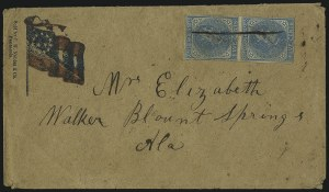 Sale Number 1104, Lot Number 2356, General Issues on Cover: Scott 6-105c Blue, Local (7), 5c Blue, Local (7)