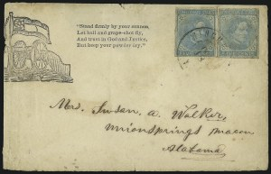 Sale Number 1104, Lot Number 2357, General Issues on Cover: Scott 6-105c Blue, Local (7), 5c Blue, Local (7)