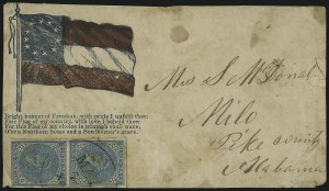 Sale Number 1104, Lot Number 2358, General Issues on Cover: Scott 6-105c Blue, Local (7), 5c Blue, Local (7)