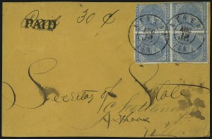 Sale Number 1104, Lot Number 2359, General Issues on Cover: Scott 6-105c Blue, Local (7), 5c Blue, Local (7)