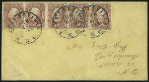 Sale Number 1104, Lot Number 2363, General Issues on Cover: Scott 6-102c Brown Red (8), 2c Brown Red (8)