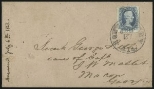 "Sale Number 1104, Lot Number 2364, General Issues on Cover: Scott 6-1010c Blue, ""TEN"" (9), 10c Blue, ""TEN"" (9)"