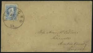 "Sale Number 1104, Lot Number 2365, General Issues on Cover: Scott 6-1010c Milky Blue, ""TEN"" (9a), 10c Milky Blue, ""TEN"" (9a)"