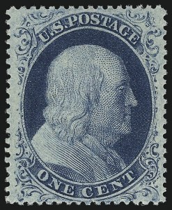 Sale Number 1106, Lot Number 3041, 1857-60 Issue1c Blue, Ty. IIIa (22), 1c Blue, Ty. IIIa (22)