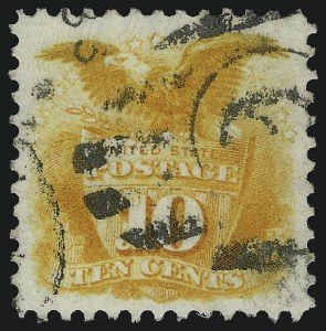 Sale Number 1106, Lot Number 3118, 1869 Pictorial Issue and Re-Issue10c Yellow, Re-Issue (127), 10c Yellow, Re-Issue (127)