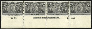 Sale Number 1106, Lot Number 3134, Columbian Issue$5.00 Columbian (245), $5.00 Columbian (245)