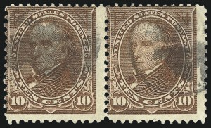 Sale Number 1106, Lot Number 3138, 1894-98 Issue thru Pan-American Issue10c Brown, Ty. I-II (282C-283), 10c Brown, Ty. I-II (282C-283)