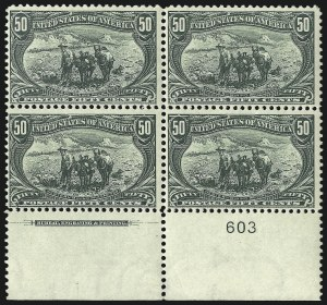 Sale Number 1106, Lot Number 3140, 1894-98 Issue thru Pan-American Issue50c Trans-Mississippi (291), 50c Trans-Mississippi (291)