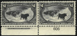 Sale Number 1106, Lot Number 3141, 1894-98 Issue thru Pan-American Issue$1.00 Trans-Mississippi (292), $1.00 Trans-Mississippi (292)