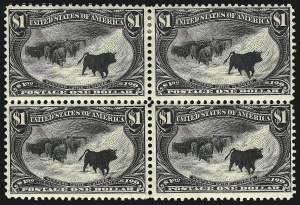 Sale Number 1106, Lot Number 3142, 1894-98 Issue thru Pan-American Issue$1.00 Trans-Mississippi (292), $1.00 Trans-Mississippi (292)