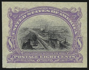Sale Number 1106, Lot Number 3143, 1894-98 Issue thru Pan-American Issue8c Violet & Black, Trial Color Small Die Proof on Wove (298TC2b), 8c Violet & Black, Trial Color Small Die Proof on Wove (298TC2b)