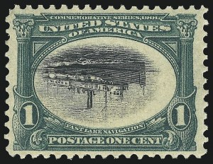 Sale Number 1106, Lot Number 3144, 1894-98 Issue thru Pan-American Issue1c Pan-American, Center Inverted (294a), 1c Pan-American, Center Inverted (294a)