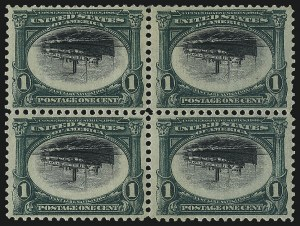 Sale Number 1106, Lot Number 3145, 1894-98 Issue thru Pan-American Issue1c Pan-American, Center Inverted (294a), 1c Pan-American, Center Inverted (294a)