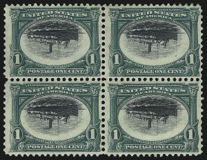 Sale Number 1106, Lot Number 3146, 1894-98 Issue thru Pan-American Issue1c Pan-American, Center Inverted (294a), 1c Pan-American, Center Inverted (294a)