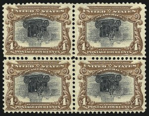 Sale Number 1106, Lot Number 3147, 1894-98 Issue thru Pan-American Issue4c Pan-American, Center Inverted (296a), 4c Pan-American, Center Inverted (296a)
