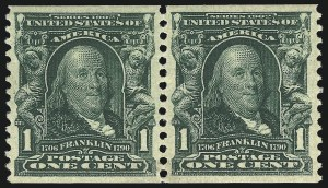 Sale Number 1106, Lot Number 3149, 1902-08 Issue and Later Issues1c Blue Green, Coil (318), 1c Blue Green, Coil (318)