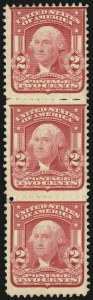 Sale Number 1106, Lot Number 3150, 1902-08 Issue and Later Issues2c Carmine, Ty. I, Vertical Pair, San Francisco Roulette (319r; formerly 319e), 2c Carmine, Ty. I, Vertical Pair, San Francisco Roulette (319r; formerly 319e)