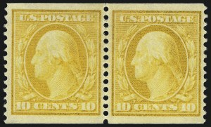 Sale Number 1106, Lot Number 3154, 1902-08 Issue and Later Issues10c Yellow, Coil (356), 10c Yellow, Coil (356)