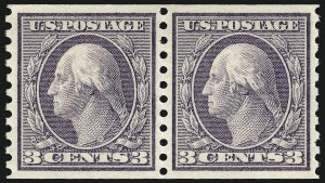 Sale Number 1106, Lot Number 3156, 1902-08 Issue and Later Issues3c Violet, Coil (456), 3c Violet, Coil (456)