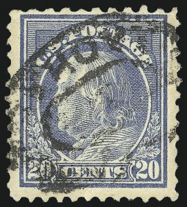 Sale Number 1106, Lot Number 3159, 1902-08 Issue and Later Issues20c Light Ultramarine, Perf 10 at Top (515d), 20c Light Ultramarine, Perf 10 at Top (515d)