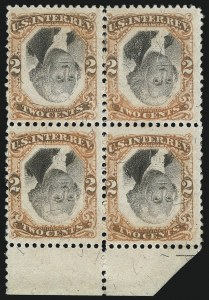 Sale Number 1106, Lot Number 3172, Back-of-Book Issues2c Orange & Black, Third Issue, Center Inverted (R135b), 2c Orange & Black, Third Issue, Center Inverted (R135b)