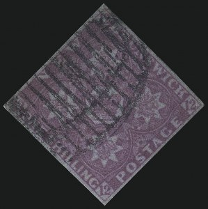 Sale Number 1106, Lot Number 3202, Worldwide (India to South Australia)NEW BRUNSWICK, 1851, 1sh Bright Red Violet (3; SG 5), NEW BRUNSWICK, 1851, 1sh Bright Red Violet (3; SG 5)
