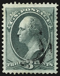 Sale Number 1107, Lot Number 265, 1870-71 National Bank Note Co. Issues (Scott 134-155)3c Green, I. Grill (136A), 3c Green, I. Grill (136A)