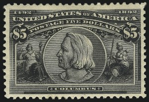 Sale Number 1107, Lot Number 326, 50c-$5.00 1893 Columbian Issue (Scott 240-245)50c-$5.00 Columbian (240-245), 50c-$5.00 Columbian (240-245)