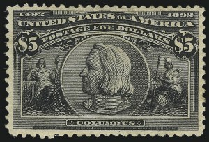Sale Number 1107, Lot Number 327, 50c-$5.00 1893 Columbian Issue (Scott 240-245)50c-$5.00 Columbian (240-245), 50c-$5.00 Columbian (240-245)