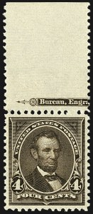 Sale Number 1107, Lot Number 356, 1894-98 Bureau Issues (Scott 246-283)4c Dark Brown (269), 4c Dark Brown (269)
