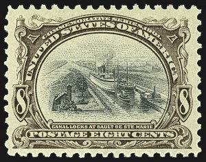 Sale Number 1107, Lot Number 405, 1901 Pan-American Issue (Scott 294-299)8c Pan-American (298), 8c Pan-American (298)