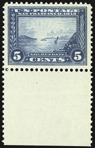 Sale Number 1107, Lot Number 455, 1910-13 Washington-Franklins, Panama Pacific Issues (Scott 374-404)5c Panama-Pacific (399), 5c Panama-Pacific (399)