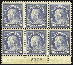 Sale Number 1107, Lot Number 469, 1912-15 Washington-Franklin Issue (Scott 405-491)20c Ultramarine (438), 20c Ultramarine (438)