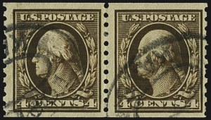 Sale Number 1107, Lot Number 474, 1912-15 Washington-Franklin Issue (Scott 405-491)4c Brown, Coil (446), 4c Brown, Coil (446)