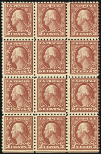 Sale Number 1107, Lot Number 481, 1912-15 Washington-Franklin Issue (Scott 405-491)5c Carmine, Error, Perf 10 and 11 (467, 505), 5c Carmine, Error, Perf 10 and 11 (467, 505)