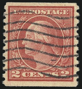 Sale Number 1107, Lot Number 494, 1912-15 Washington-Franklin Issue (Scott 405-491)2c Carmine, Ty. II, Coil (491), 2c Carmine, Ty. II, Coil (491)