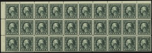 Sale Number 1107, Lot Number 496, 1917-23 Issues (Scott 498-546)1c Green, A.E.F. Booklet Pane (498f), 1c Green, A.E.F. Booklet Pane (498f)