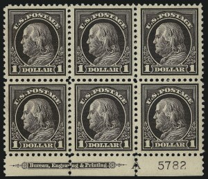 Sale Number 1107, Lot Number 503, 1917-23 Issues (Scott 498-546)$1.00 Violet Brown (518), $1.00 Violet Brown (518)