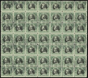 Sale Number 1107, Lot Number 506, 1917-23 Issues (Scott 498-546)$5.00 Deep Green & Black (524), $5.00 Deep Green & Black (524)