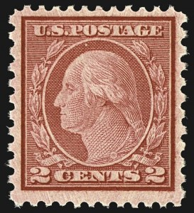 Sale Number 1107, Lot Number 512, 1917-23 Issues (Scott 498-546)2c Carmine Rose, Ty. II, Rotary Perf 11 x 10 (539), 2c Carmine Rose, Ty. II, Rotary Perf 11 x 10 (539)