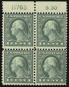 Sale Number 1107, Lot Number 514, 1917-23 Issues (Scott 498-546)1c Green, Rotary (545), 1c Green, Rotary (545)